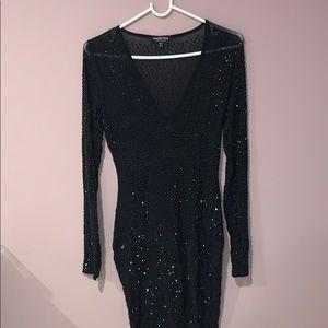 Fashion Nova Black Sequin Dress